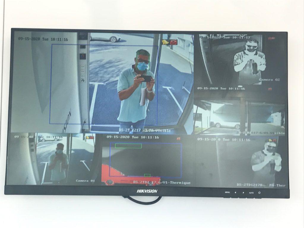 cameras thermiques avec detection de port du masque
